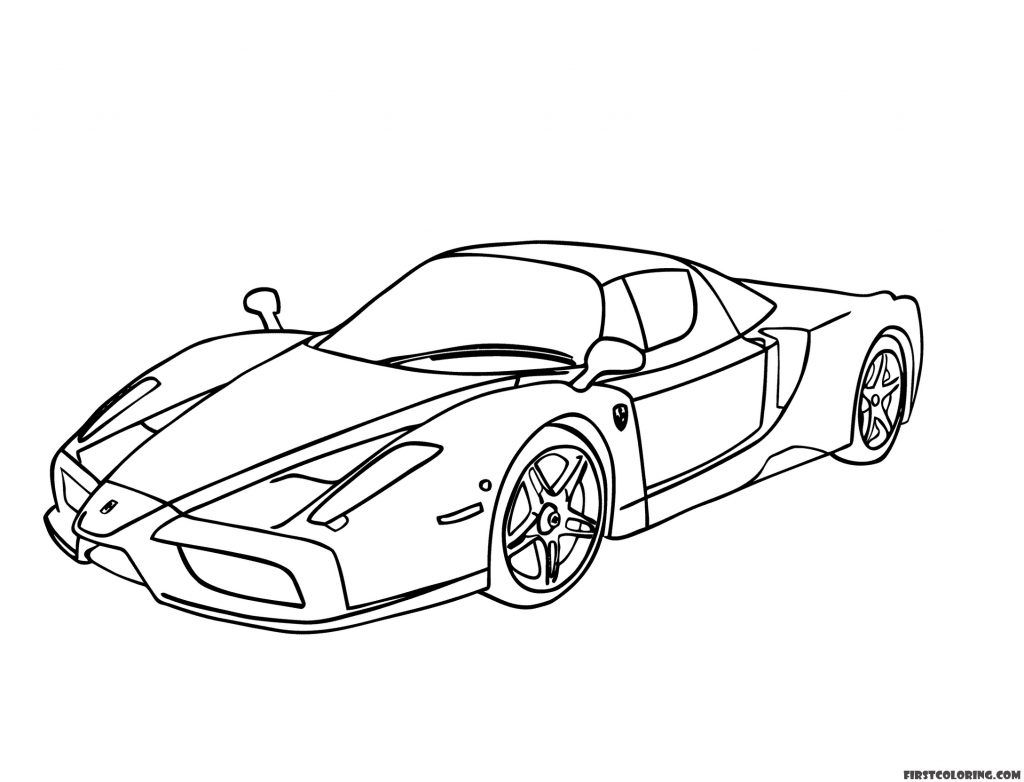 Ferrari Coloring Pages First Coloring For Our Children In 2021 Nemo Coloring Pages Finding Nemo Coloring Pages Designs Coloring Books
