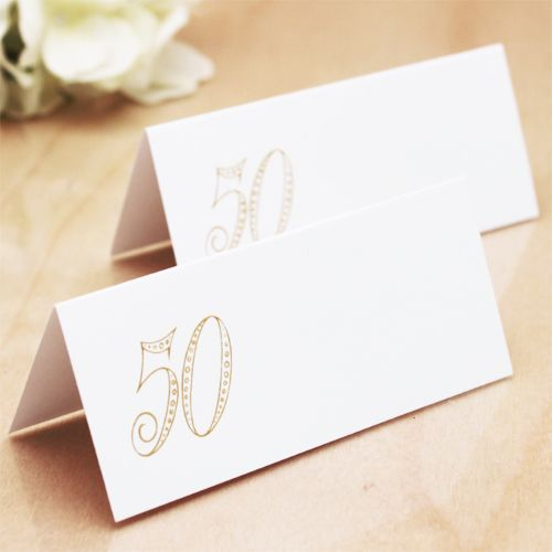 place cards for 50th wedding anniversary