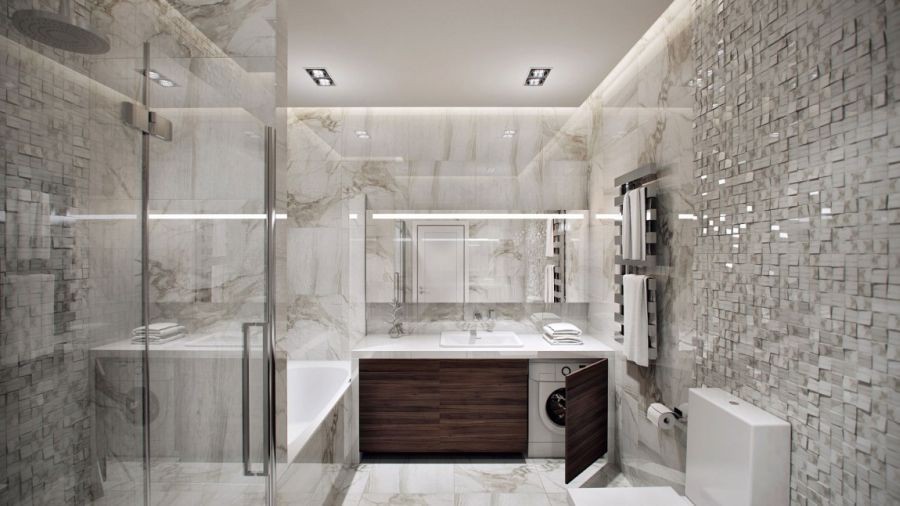 Contemporary German Apartment Design Showcases A Stunning Interior Einrichtung Contemporary Bathrooms Apartment Chic Bathroom