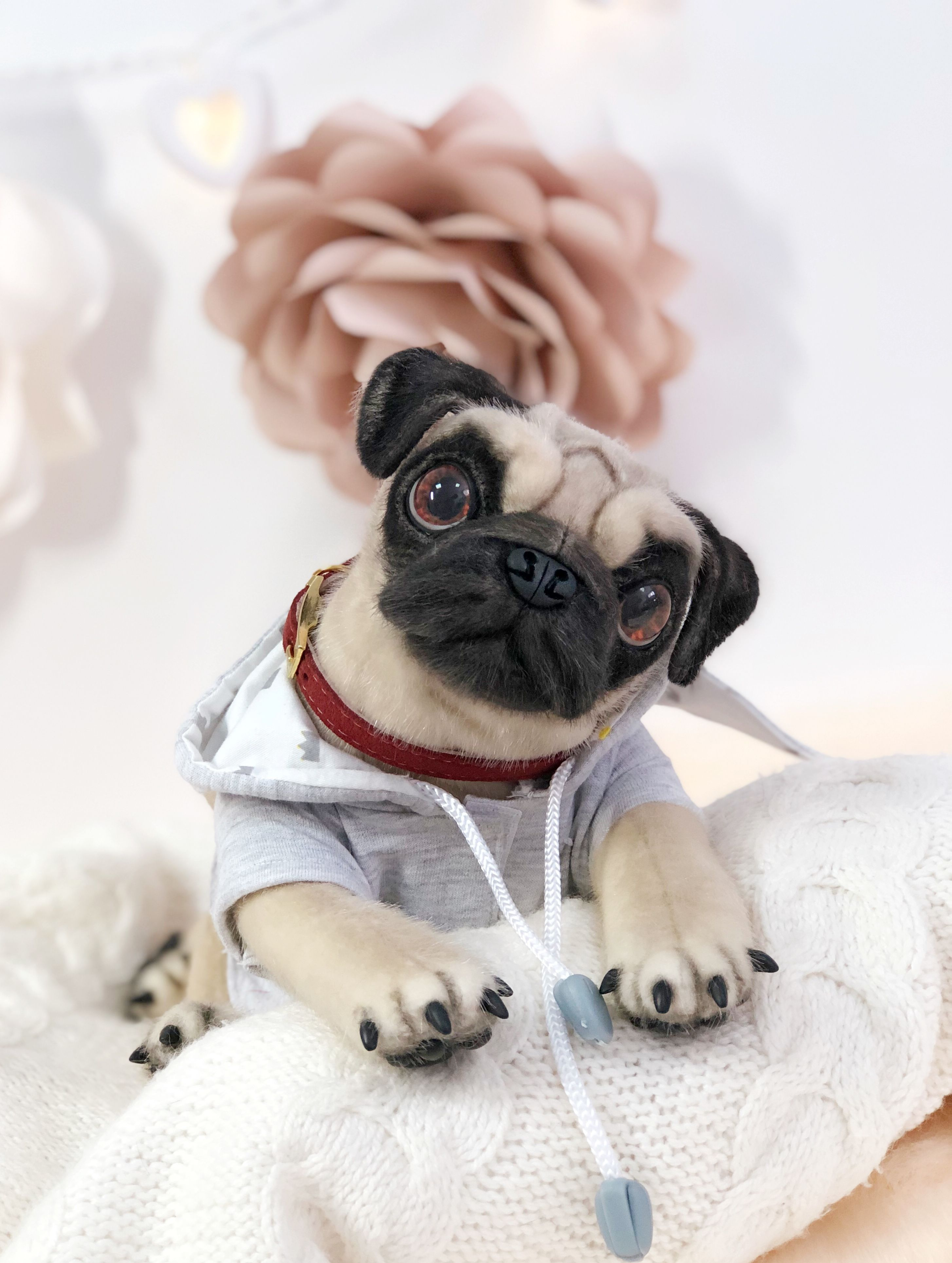 Realistic Pug Stuffed Animal, Pug Dog Dogs Pug Dog Pugs