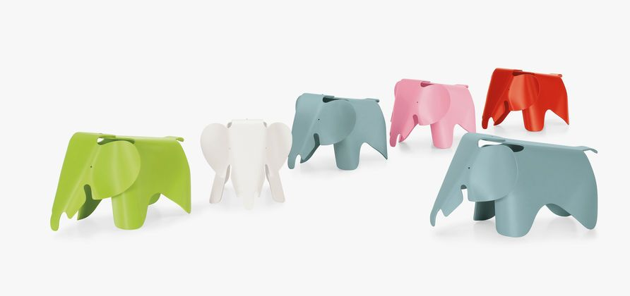 Charles and Ray Eames developed a toy elephant made of