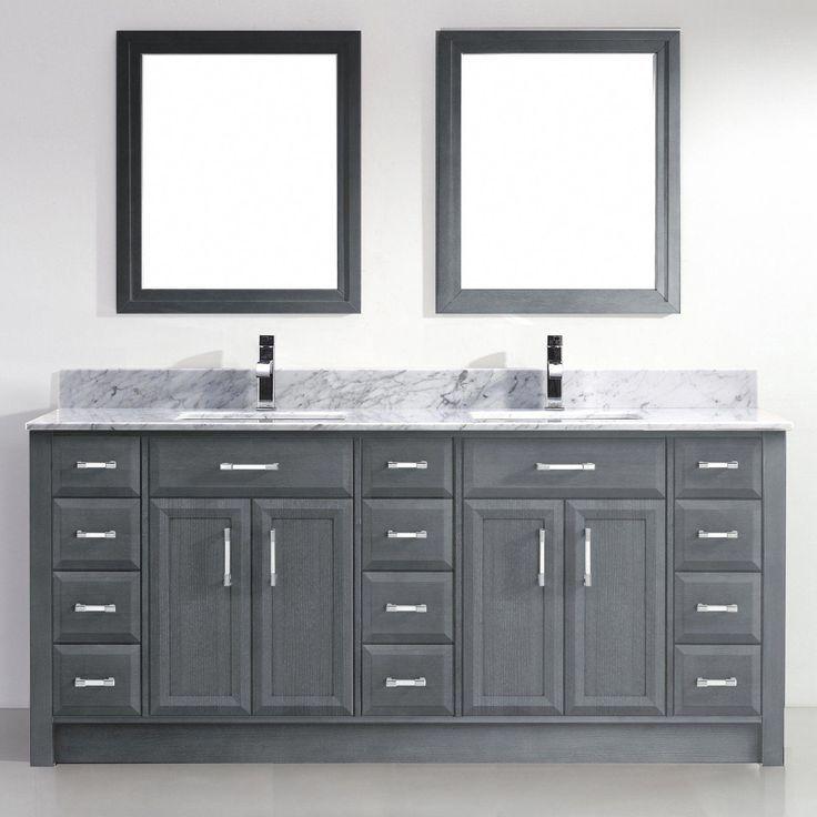 Bauhaus Bath Caledonia 75 Inch Dubbele Badkamer Ijdelheid Set Met Spiegels Bathroomf Bad Doppelwaschtisch Badezimmerwaschtisch Schminktisch