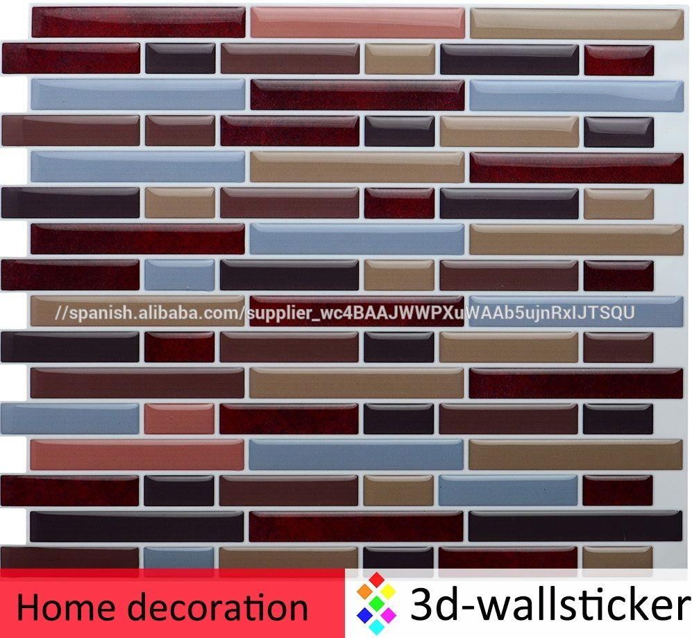 Comprar Fresco Auto Stick Mosaico Backsplash Wallpapers Imagenes Con Paypal Imagen Mosaicos Identificacion Del Pr Wall Tiles Stick On Tiles Peel And Stick Tile