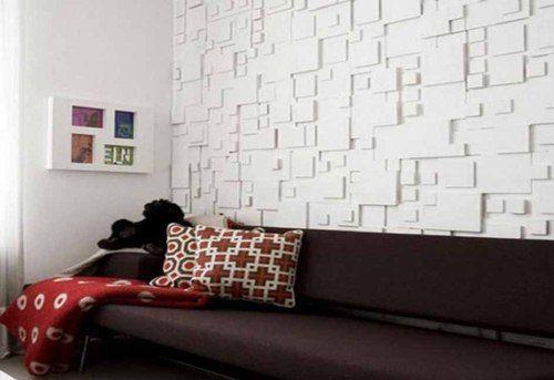 Wallpaper Dinding Ruang Tamu Minimalis Timbul