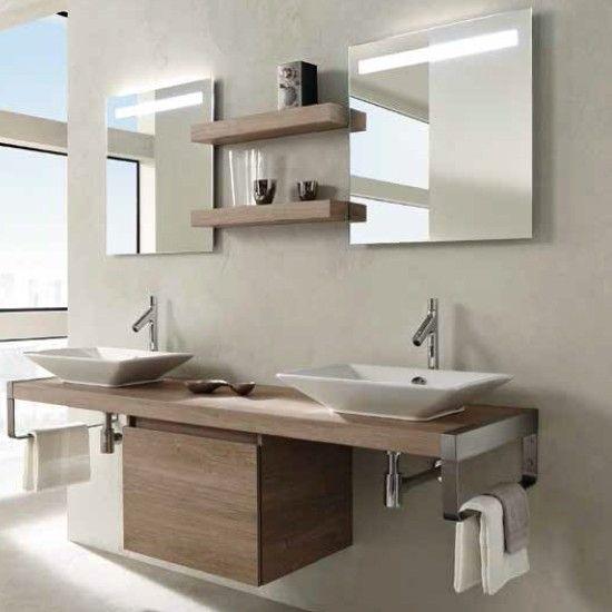 Mueble de baño PARALLEL encimera y mueble bajo encimera 200 cm ...