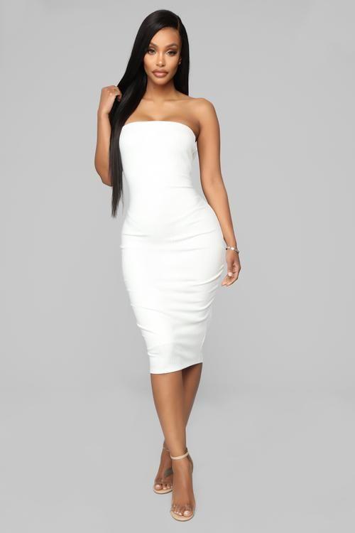 35+ White tube dress information