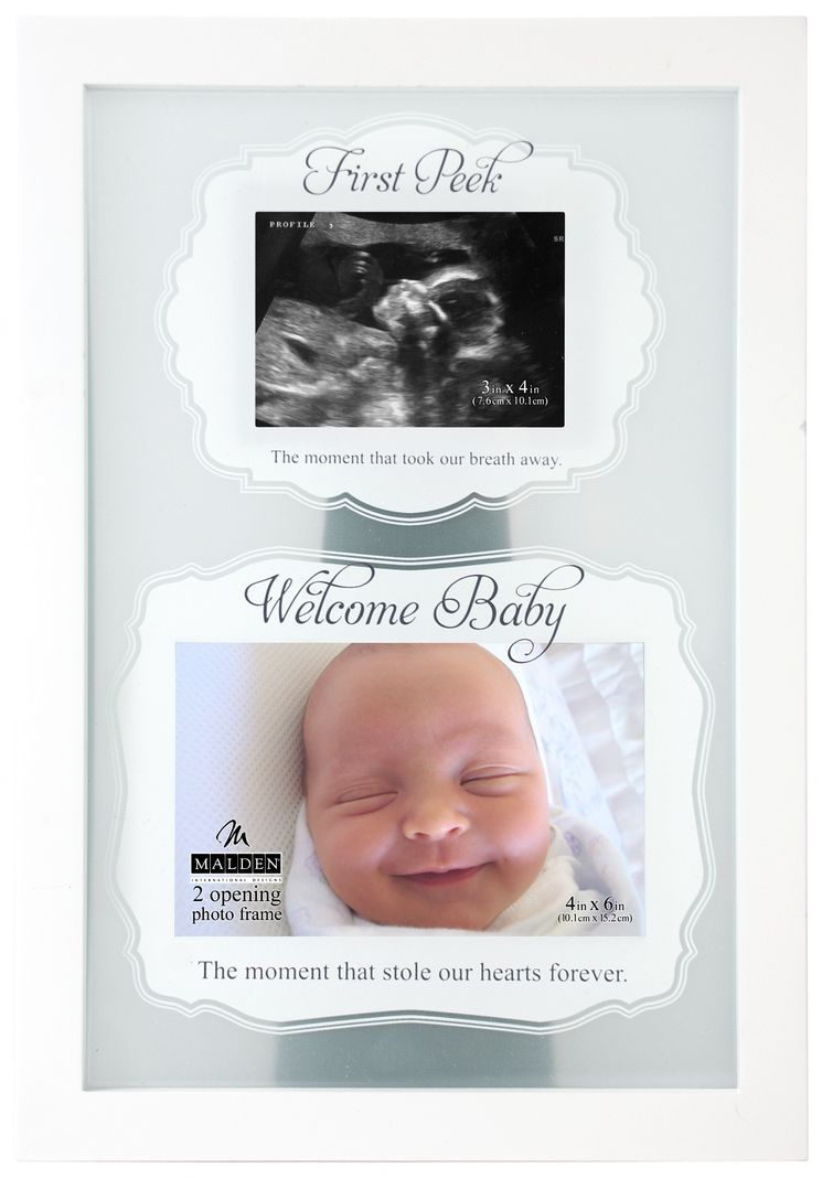 2 opening first peek sonogram picture frame for the next one 2 opening first peek sonogram picture frame jeuxipadfo Gallery