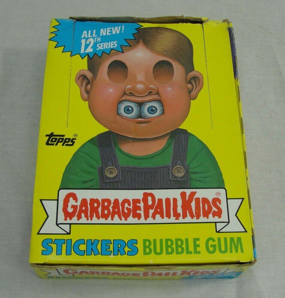 Vtg 1988 Topps Garbage Pail Kids Cards 12th Series Box Unopened 48 Wax Packs Gpk Garbage Pail Kids Cards Bubble Gum