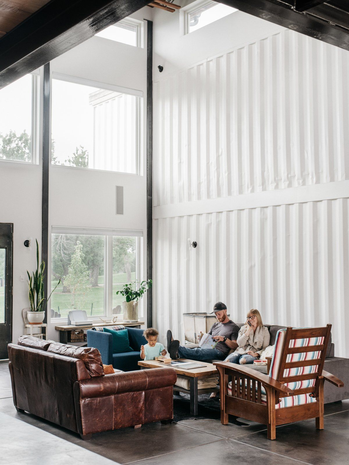 Firefighter Living Room Decor: A Colorado Firefighter Built His Own Shipping Container