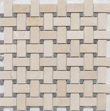 tan basket weave ceramic floor tile
