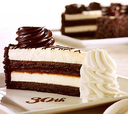 Cheesecake Recipes 30th Anniversary Chocolate Cake Cheesecake