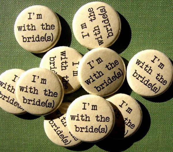 Groom 1 Groom 2 wedding buttons inspired by Doctor Seuss Thing