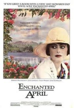 Enchanted April 1991.  I've seen this movie a million times.  it's my feel good movie when I want to get inspired and see beauty... It's a Miramax Film and it's my favorite studio.  When the beg credits show the logo, I smile because I know I'm in for a good one.  They make mostly independent films.