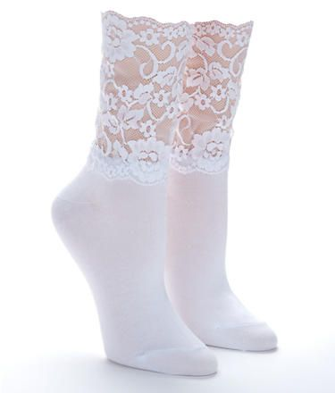 5.00 lace socks, bare neccessities
