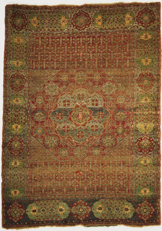 Charming Mamluk Rug, Egypt, Late 15th Century. Among The Egyptian Mamluk Rugs That  Survive