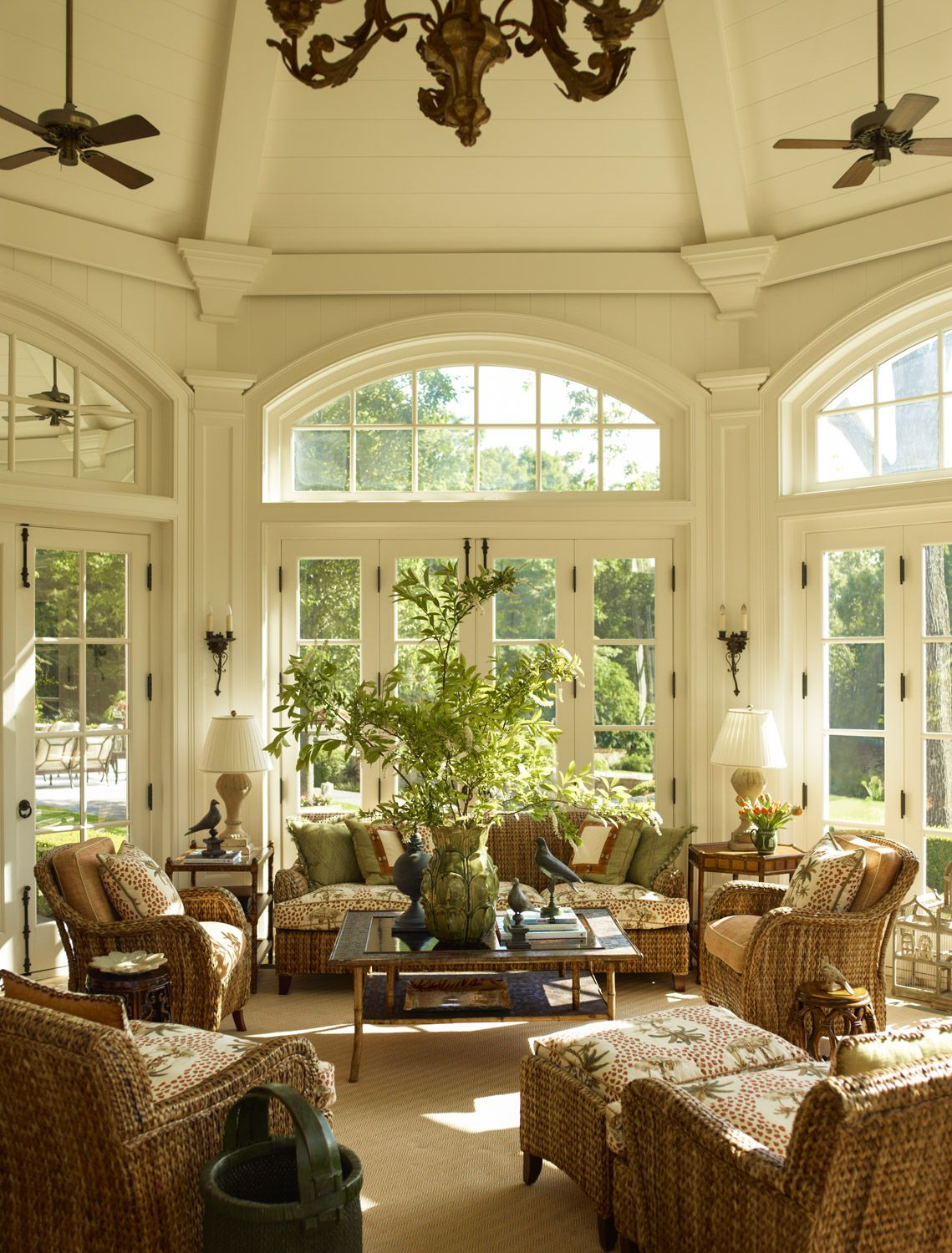 French Design Living Room: French Flair In Connecticut..great Wicker Chairs. Check
