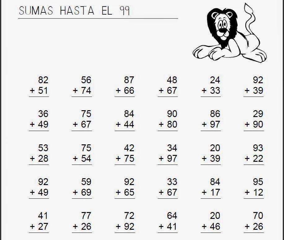 Ejercicios De Matematicas Sumas Y Restas Para Tercer Grado Finding Yourself Homeschool Nuskin