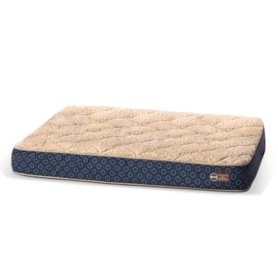 K And H Pet Products 35 In X 46 In X 4 In Large Navy Geo Flower Superior Orthopedic Quilted Top Bed 100542445 The Home Depot In 2021 Foam Bed Washable Cover Pet Bed