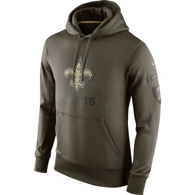 33d2b2ab (X-Large Sweatshirt) New Orleans Saints Nike Salute To Service KO  Performance Hoodie - Olive