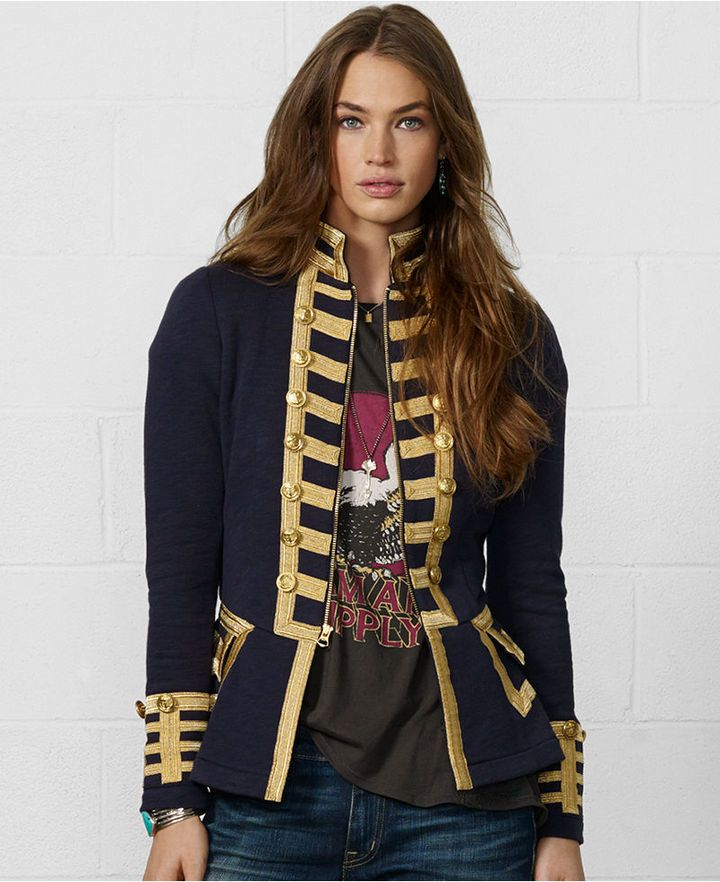 Denim   Supply Ralph Lauren Zip Front Braided Military Blazer. Buy for  198  at Macy s. 74363a5b6e941