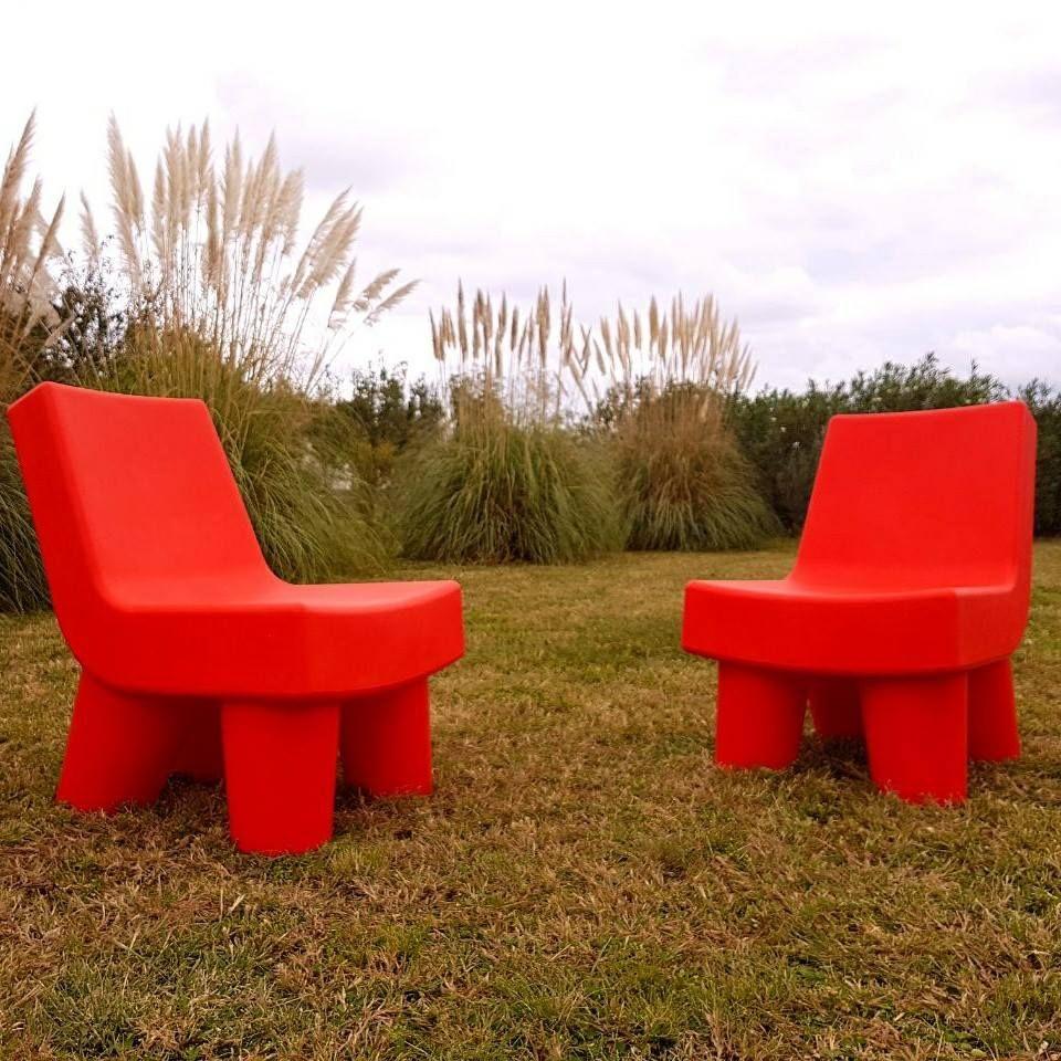 Red Elephants Sillones Rotomoldeados Para Interior Exterior  # Muebles Rotomoldeados