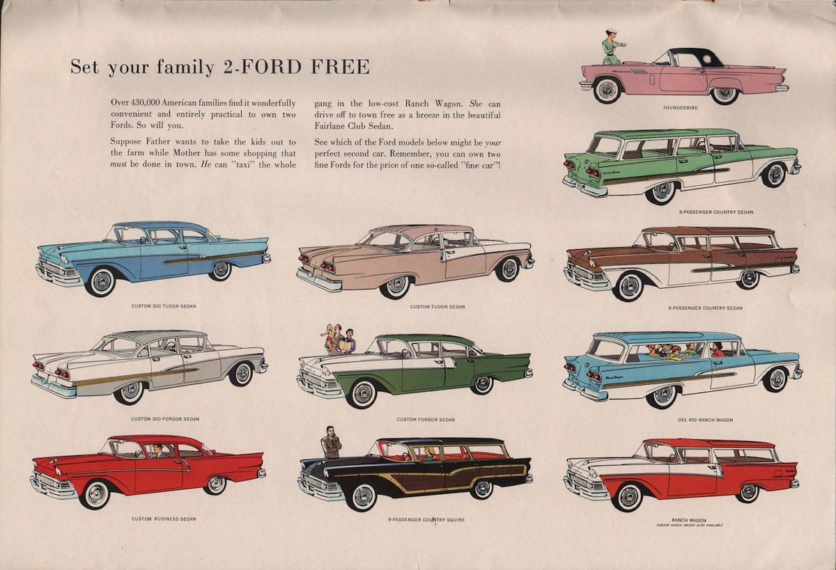 Ford 1958 Fairlane Sales Brochure Classic Cars Vintage Cars Ford