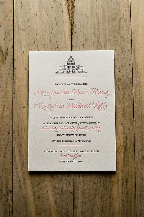 JANELLE Suite Basic Package Customizable wedding invitation