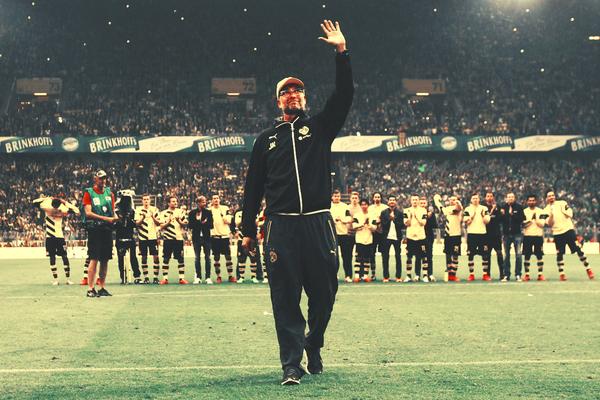 Jurgen Klopp His Last Time With His Team On Signal Iduna Park Borussia Dortmund Bvb Dortmund