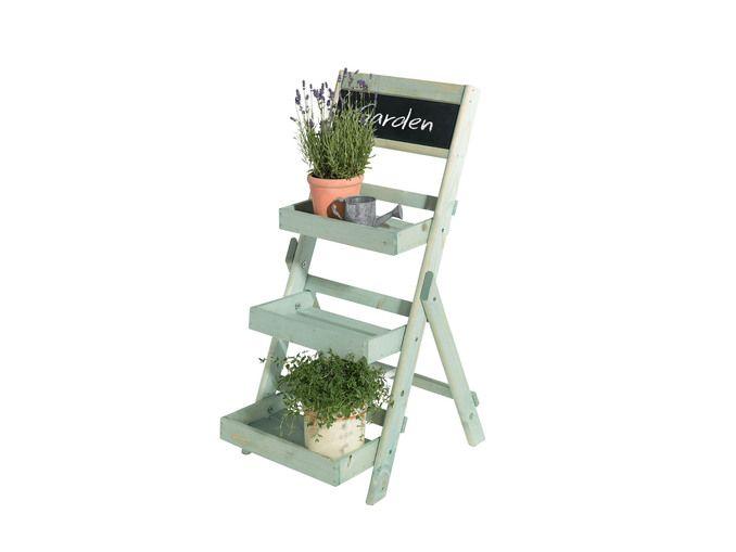 Portavasi A Scaletta In Legno : Scaffale in legno per fiori e piante da lidl italia giardino