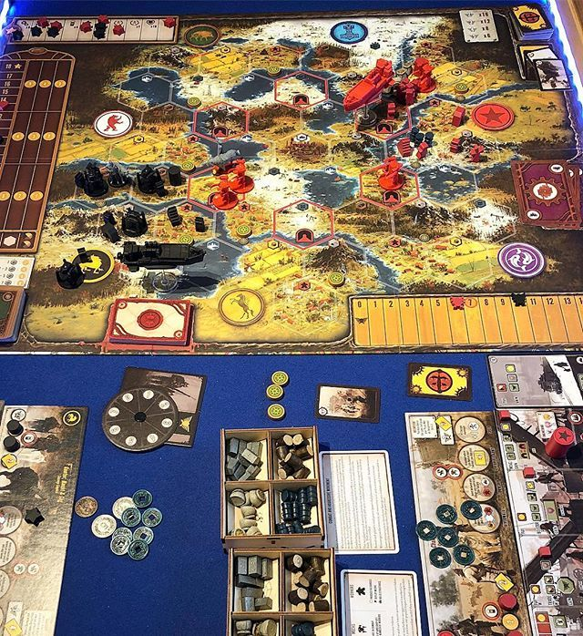 SCYTHE! Its a very wet Sunday so we dusted off Scythe for