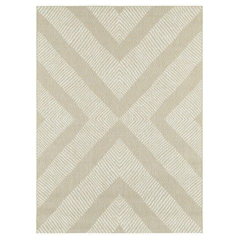 Tan Geo Outdoor Rug - Threshold™ at Target