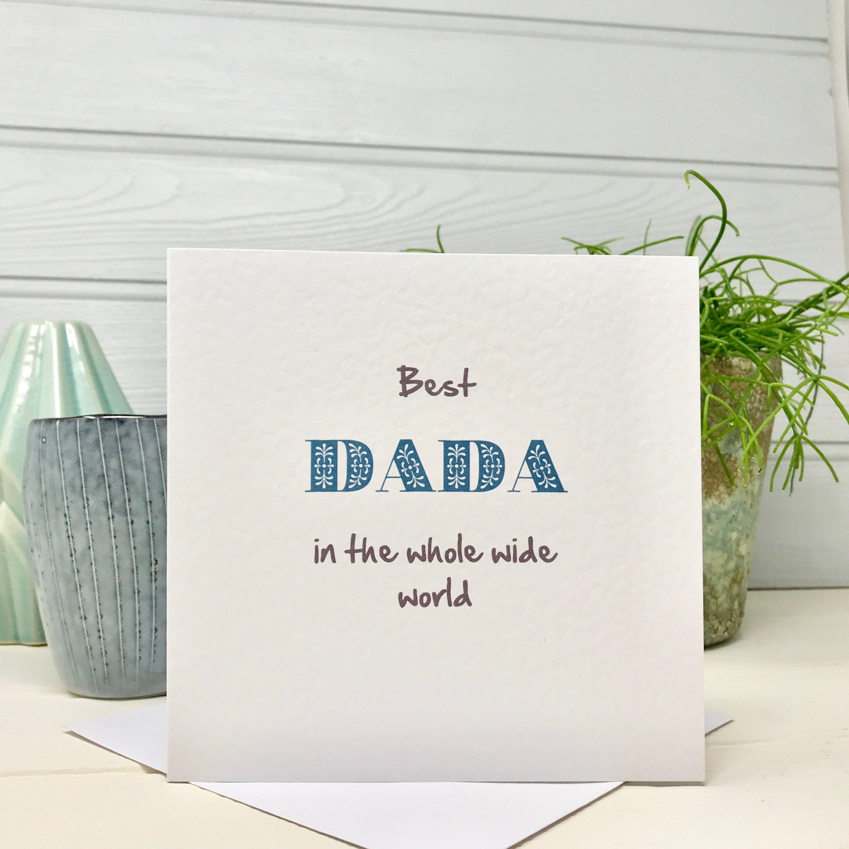Best Dada Dada Fathers Day Birthday Card By Shmuncki Etsy Birthday Cards For Mum Dad Gifts Quotes Daddy Birthday Card