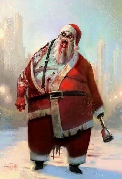 Christmas Zombie Santa.Zombie Santa Love It In 2019 Zombie Art Horror Art