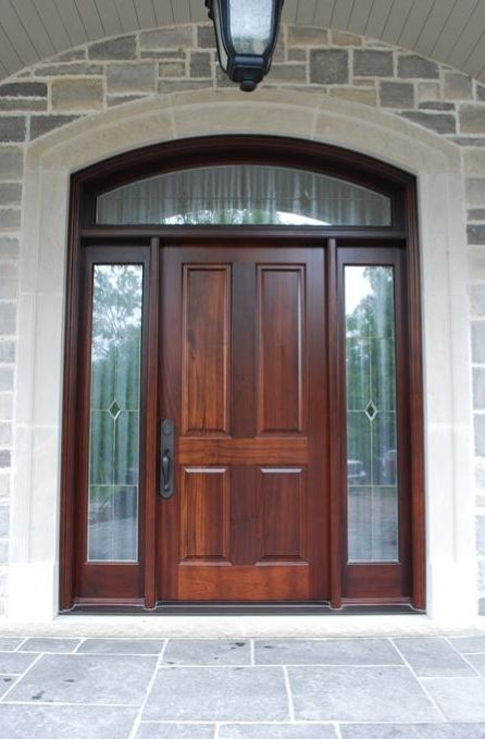 Inspirational Entry Door with Sidelites and Transom