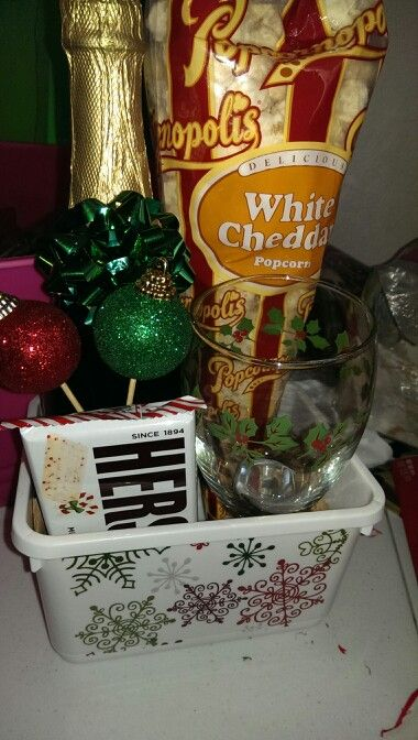 Christmas basket before Wrapping