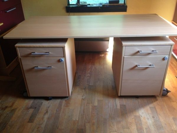 Ikea Galant Credenza : Ikea galant desk and matching file cabinets for sale in seattle