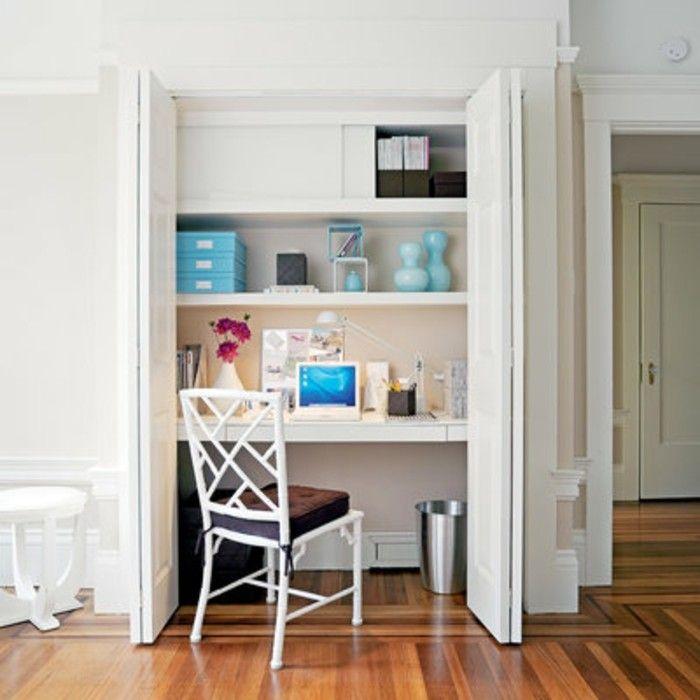Kleine Räume Geschickt Einrichten Wandnische Eingebaute Regale Schreibtisch