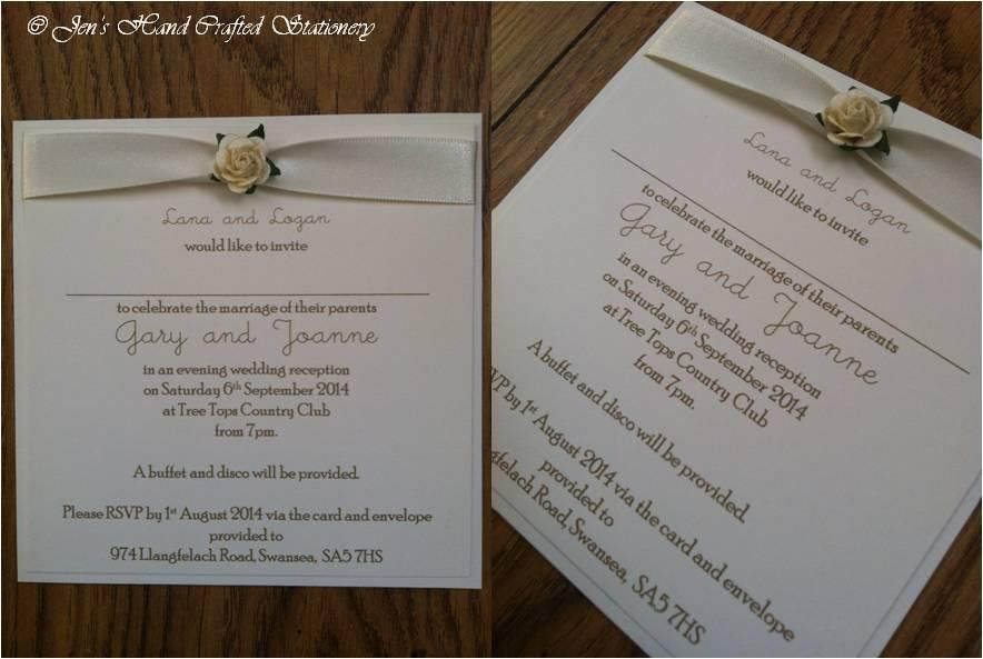 White rose Post Card Wedding Invitation www ...