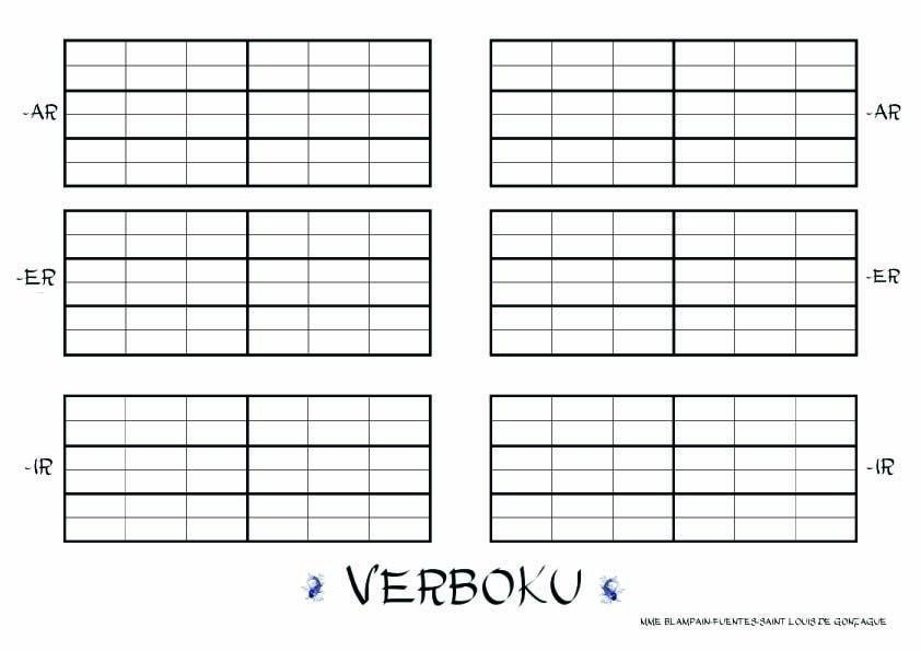 Verboku Appropriation Et Manipulation De La Conjugaison Par Le Jeu Jouer Au Sudoku Avec Des Verbes Intelligence Logic Espagnol Conjugaison Memes En Espanol
