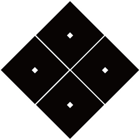 六角義賢の家紋 隅立て四つ目結 家紋 パターンデザイン ロゴ