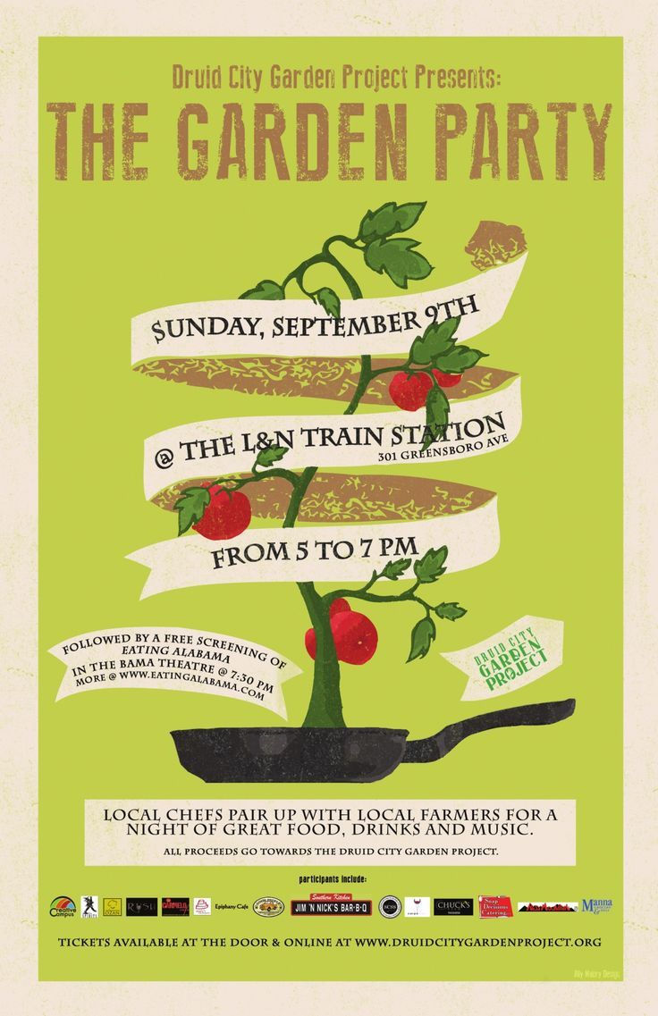 Letterpress Garden Party Poster - Google Search