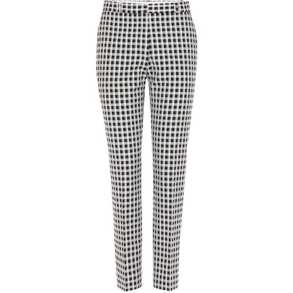 Each X Other Checked Cotton Blend Trousers 217 Liked On Polyvore Featuring Pants Black Checkered Pants Checked Clothes Design Checked Trousers Fashion