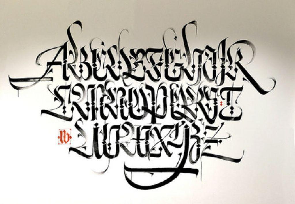 Arabic Calligraphy Graffiti Alphabet A Z Style By Luca