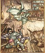 """New artwork for sale! - """" Rackham Arthur King Of The Golden River So There They Lay All Three by Arthur Rackham """" - http://ift.tt/2p7FPF3"""