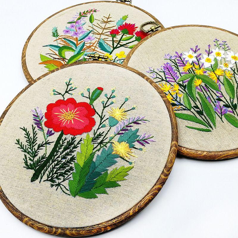 Sketch Embroidery Kits For Beginner,Modern Embroidery Kit,Character Embroidery Kit,Hand Embroidery Full Kit,DIY Embroidery Hoop Wall Art Kit