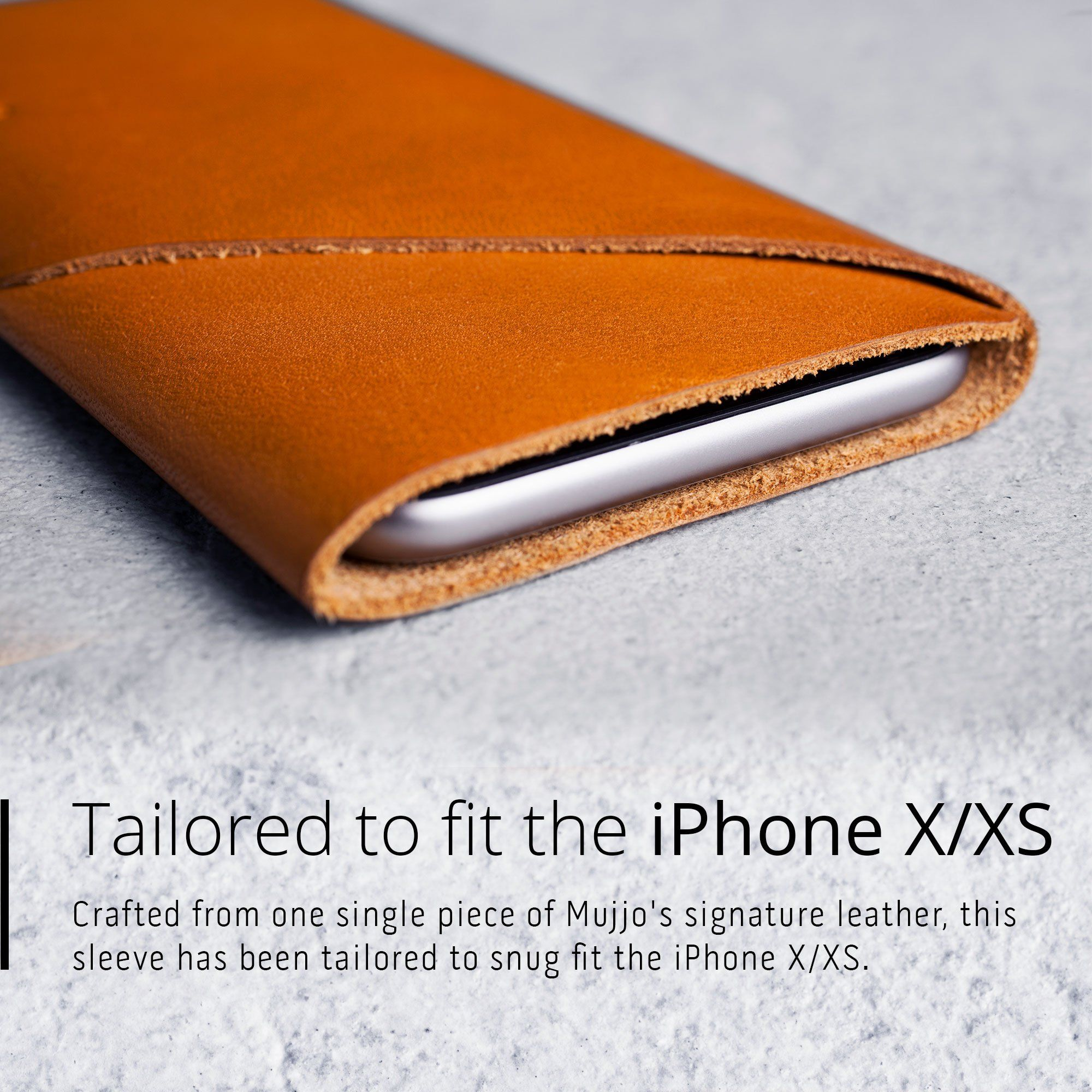quality design b5c74 3be12 Mujjo Leather Wallet sleeve for Apple iPhone XS / X | leather | Best ...