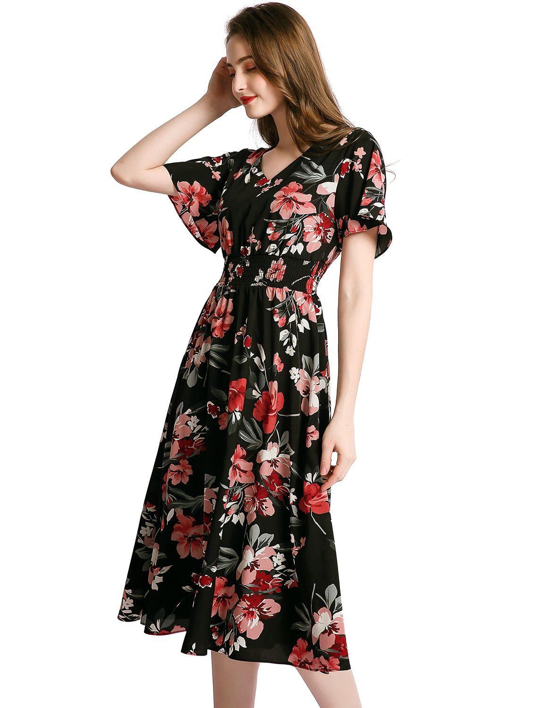 Floral Sun Dresses For Women Flowy Chiffon Dresses Summer Beach Casual Dress Chiffon Summer Dress Flowy Chiffon Dress Flowy Summer Dresses [ 1500 x 1150 Pixel ]