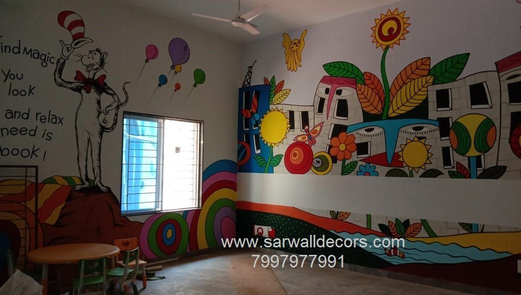 Pin On Education Wall Paintings