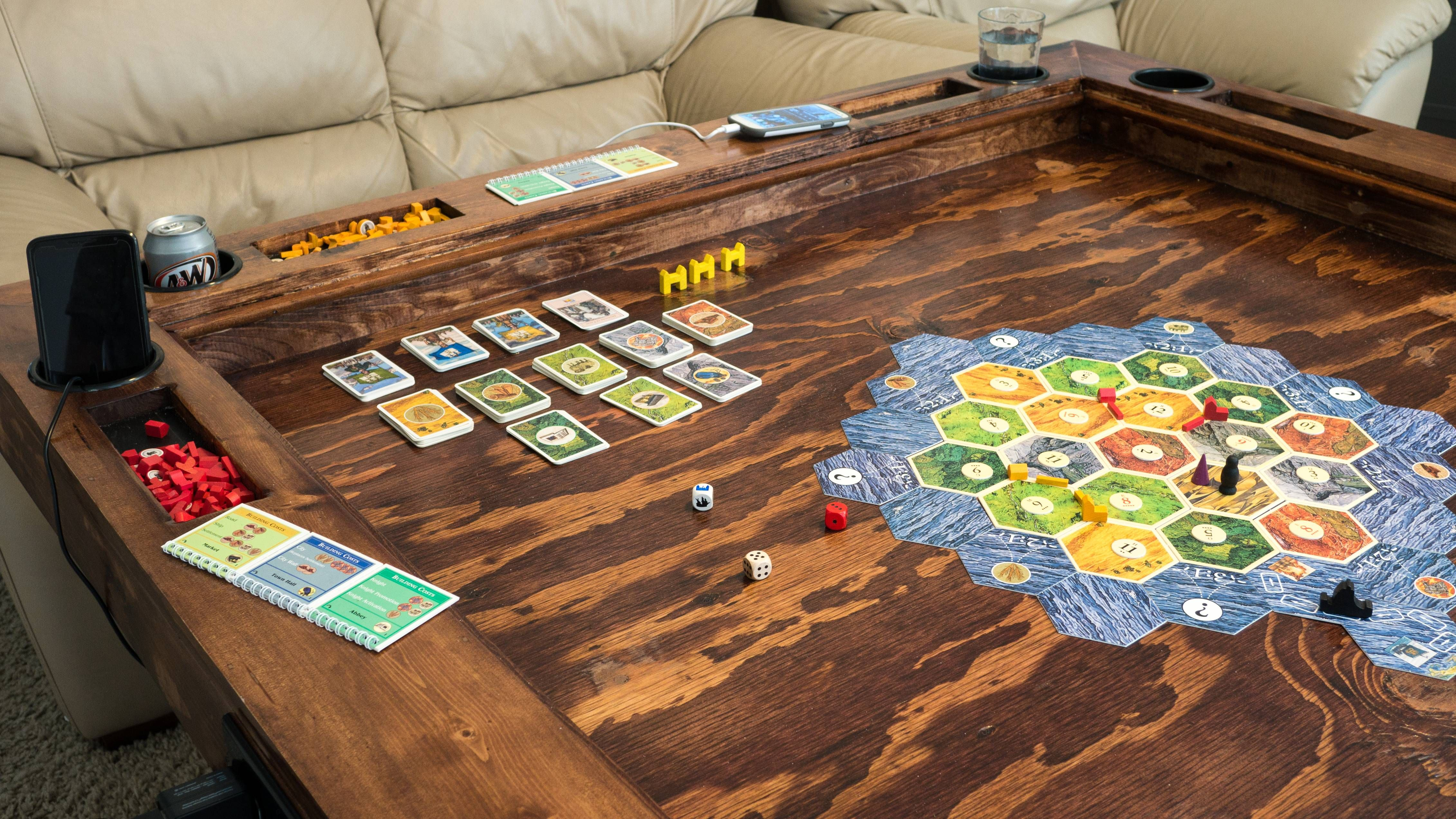 My First Woodworking Project 5 x5 Gaming Table