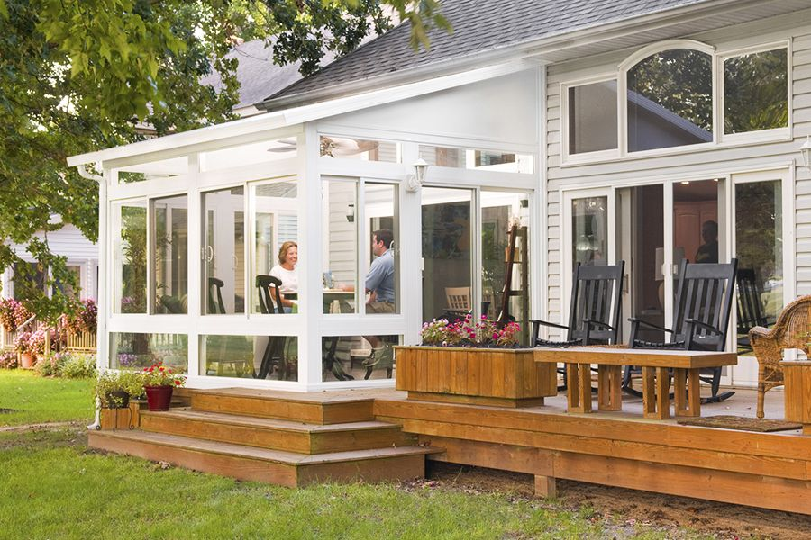 View Four Season Studio Style Vinyl Sunroom Photos Sunroom Addition Patio Design Porch Design